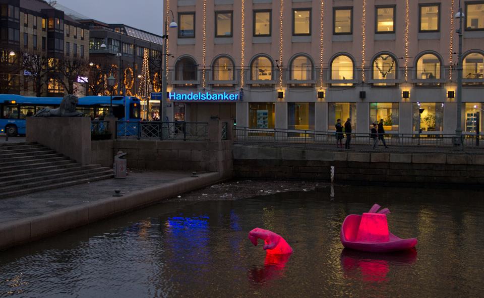 Ljusskulptur-2014-Gustavs-Hatt. Foto: Jan Peter Dahlqvist