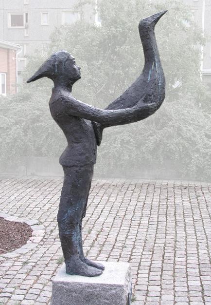 """""""Pojken och fågeln"""" © Annika Rydberg/BUS 2014. Foto: Jan Peter Dahlqvist"""