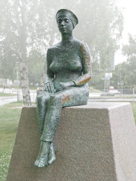 """Väntan"". © Britt Ignell Karlbrand/Bildupphovsrätt 2018. © Foto: Jan Peter Dahlqvist, 2003"