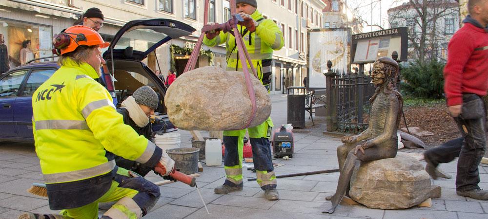 """Montering av """"Oraklet"""", Foto: Jan Peter Dahlqvist, 2015"""
