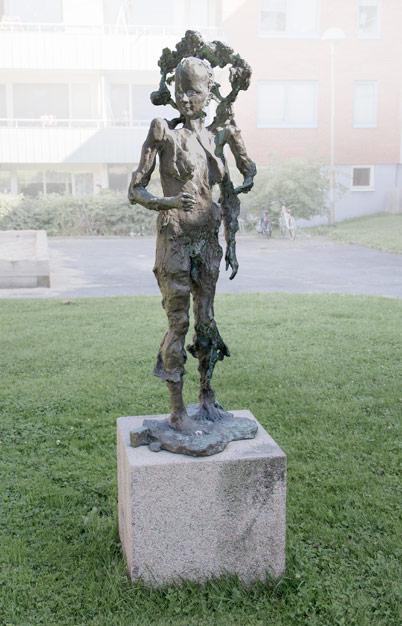 "Jerd Mellander, ""Skogskvinnan"", brons. © Foto: Jan Peter Dahlqvist, 2016"