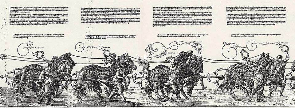 """Albrecht Dürer, """"Kejsar Maximillians triumftåg"""" 1500-talet"""